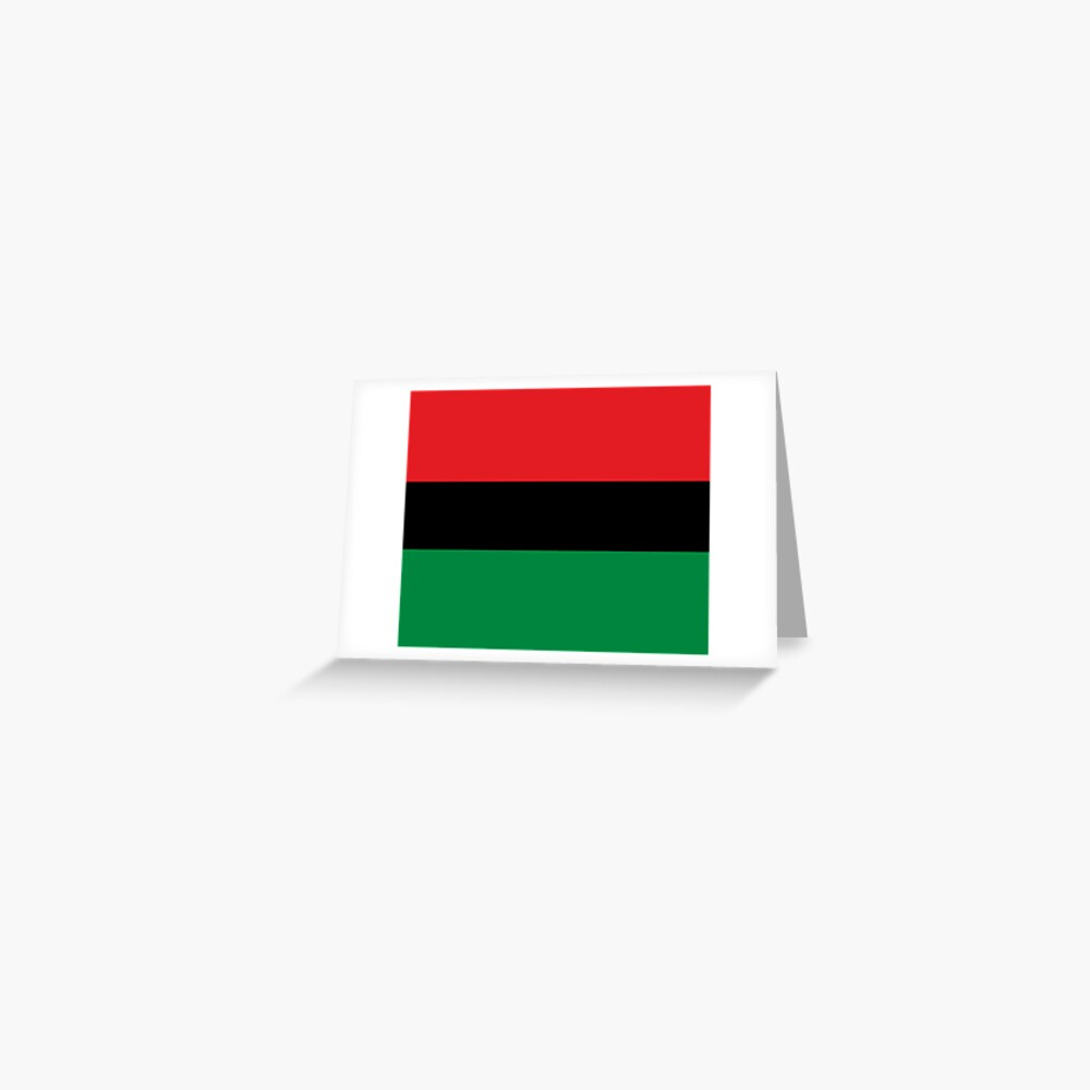 Pan African Flag T-Shirt - UNIA Flag Sticker - Afro American Flag Greeting Card
