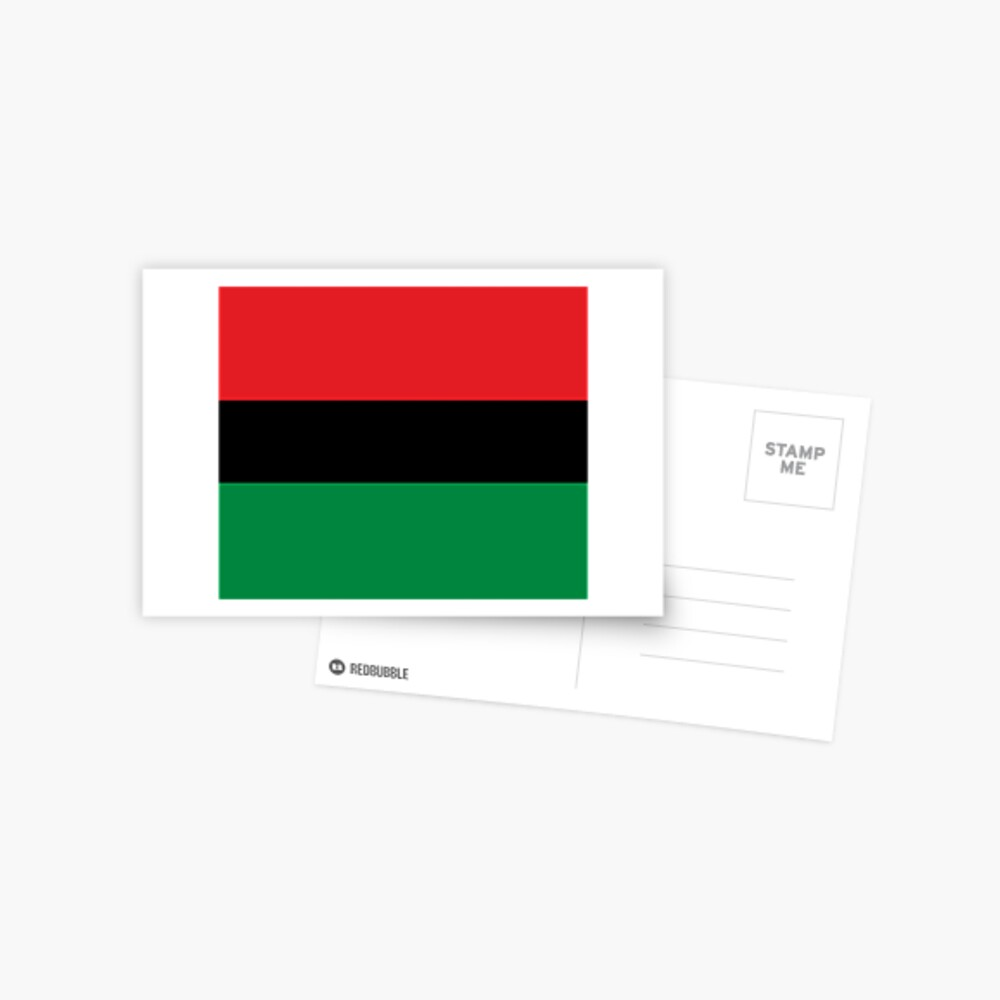 Pan African Flag T-Shirt - UNIA Flag Sticker - Afro American Flag Postcard