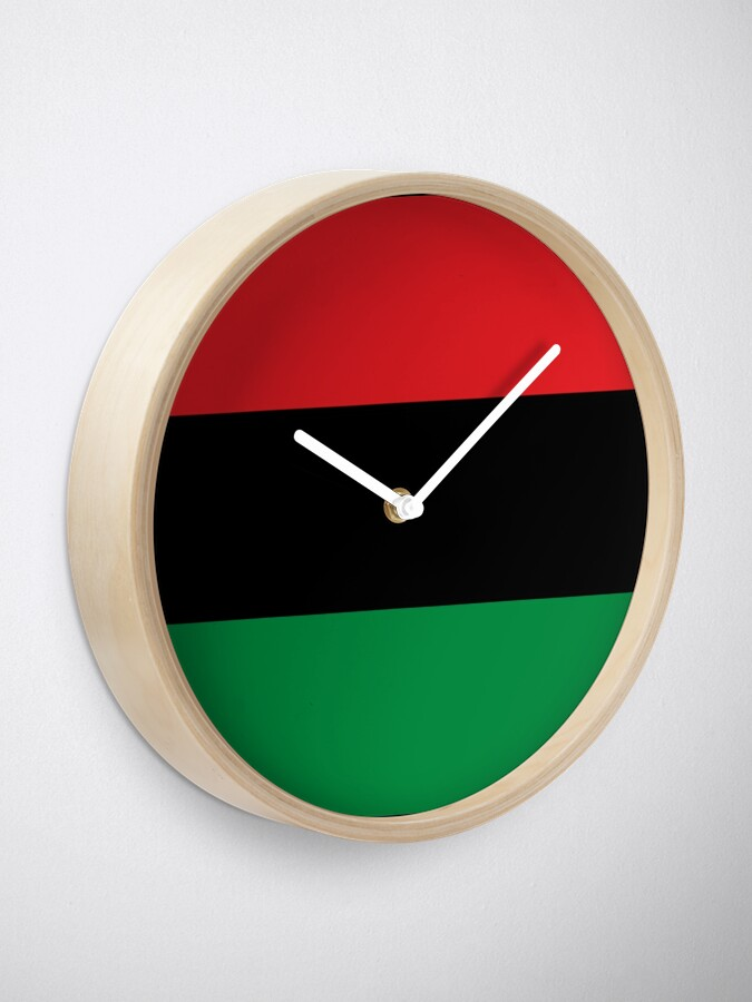 Alternate view of Pan African Flag T-Shirt - UNIA Flag Sticker - Afro American Flag Clock