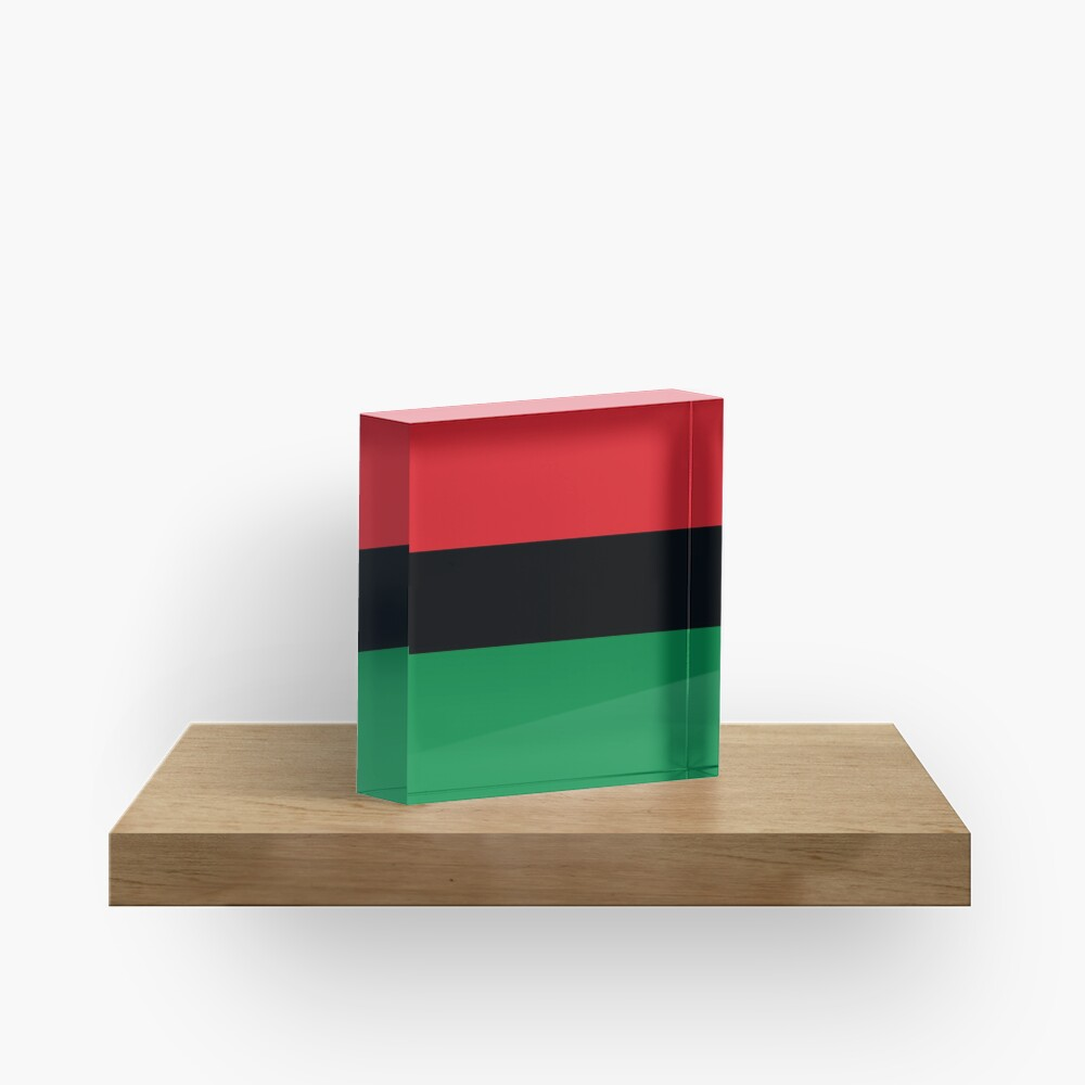 Pan African Flag T-Shirt - UNIA Flag Sticker - Afro American Flag Acrylic Block