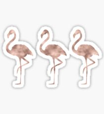 Rose gold flamingo dance Sticker
