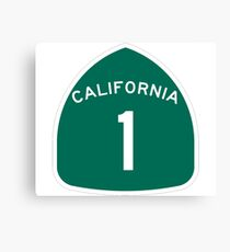California Highway 1 T-Shirt - State Route One Road Sign Sticker PCH Canvas Print