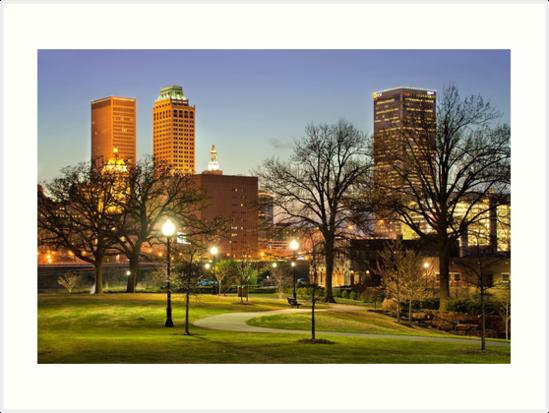 Walkway City View - Tulsa, Oklahoma by Gregory Ballos