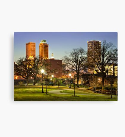 Walkway City View - Tulsa, Oklahoma Canvas Print