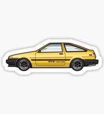 Yellow ae86 Sticker