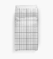 Grid - Black and White Simple Lines Duvet Cover Bedspread Duvet Cover