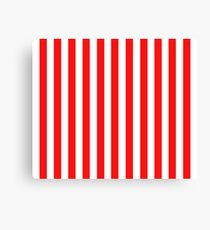 Red and White Striped Slimming Dress Canvas Print