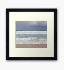 Beautiful Ocean Beach Dress Framed Print