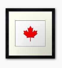 Canadian Flag - National Flag of Canada - Maple Leaf T-Shirt Sticker Framed Print