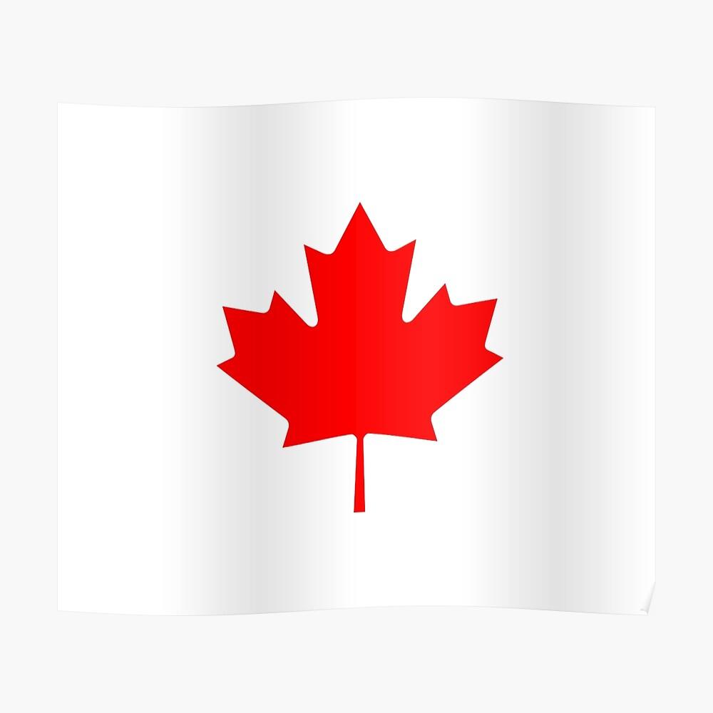 Canada Flag Canadia Black Sticker Decal Maple Leaf Drapeau Black Sticker Decal
