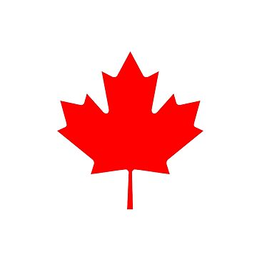 Canadian Flag - National Flag of Canada - Maple Leaf T-Shirt Sticker by deanworld