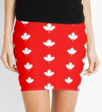 Canadian Flag - National Flag of Canada - Maple Leaf T-Shirt Sticker Mini Skirt
