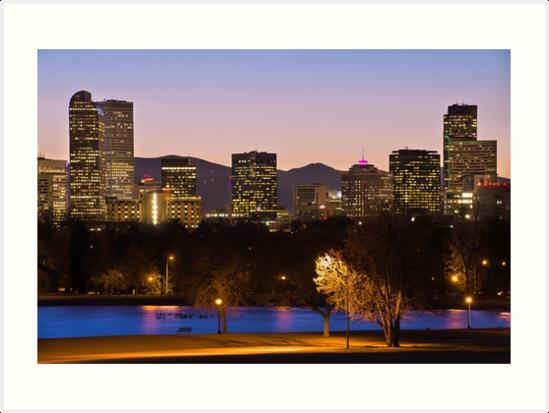 Denver Skyline - City Park View by Gregory Ballos