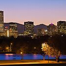 Denver Skyline - City Park View by Gregory Ballos