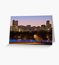 Denver Skyline - City Park View Greeting Card