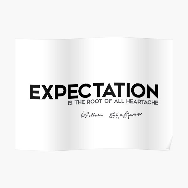 expectation, heartache - shakespeare Poster
