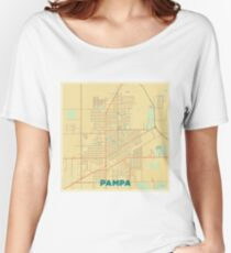 Pampa Map Retro Women's Relaxed Fit T-Shirt