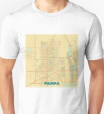 Pampa Map Retro Unisex T-Shirt