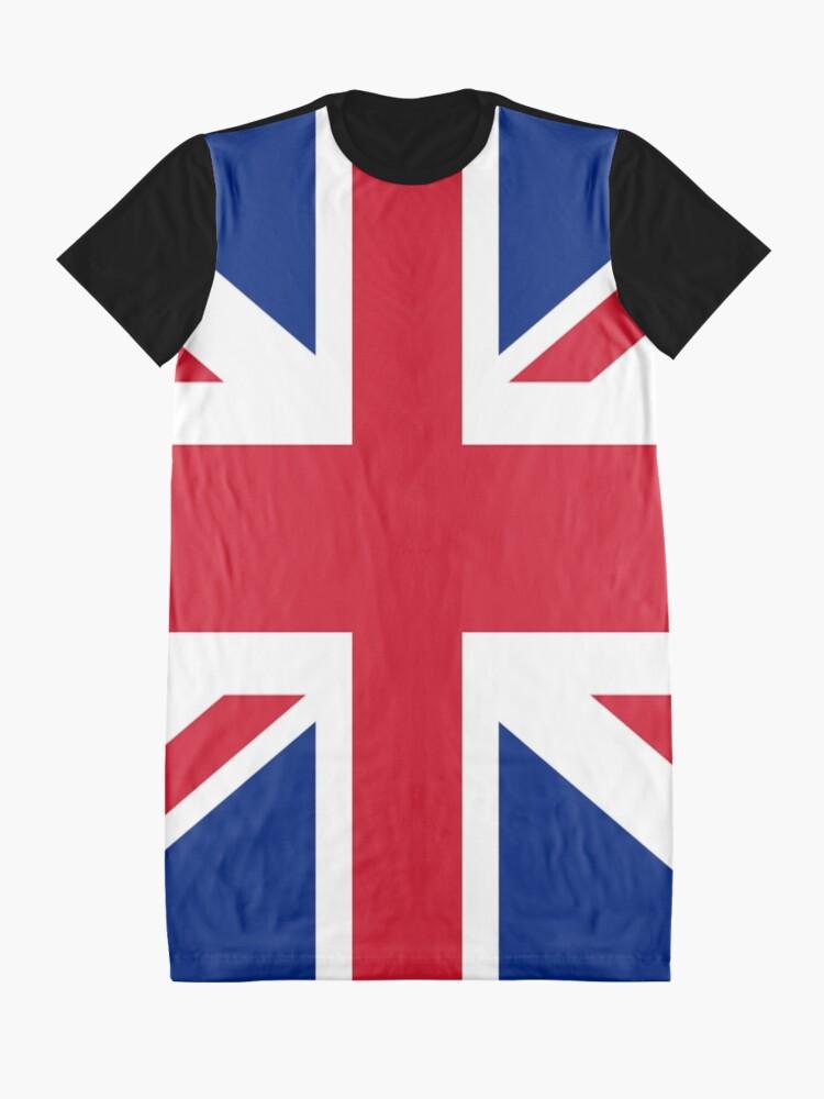 Alternate view of Union Jack 1960s Mini Skirt - Best of British Flag Graphic T-Shirt Dress