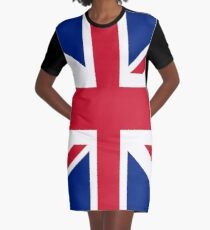Union Jack 1960s Mini Skirt - Best of British Flag Graphic T-Shirt Dress
