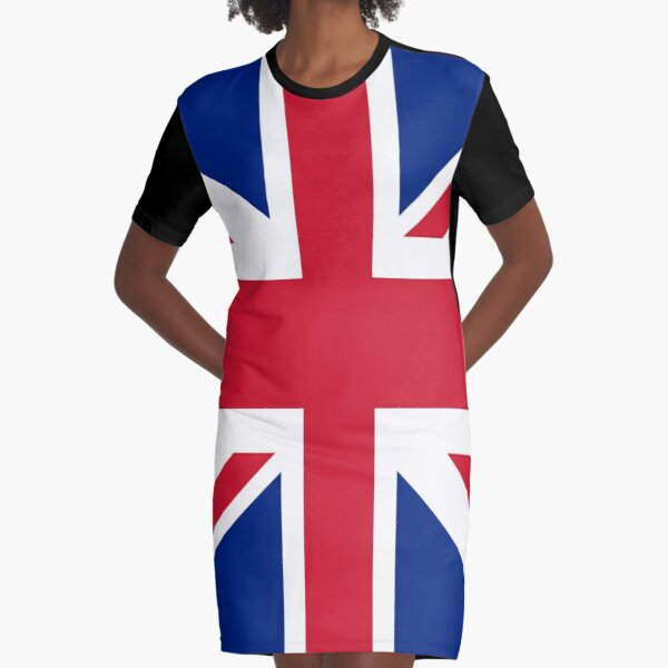 Union Jack 1960s Mini Skirt - Best of British Flag Graphic T-Shirt Dress