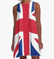 Union Jack 1960s Mini Skirt - Best of British Flag A-Line Dress