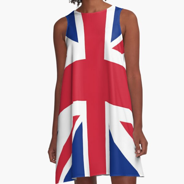 Union Jack 1960s Mini Skirt - Best of British Flag A-Line Dress