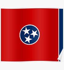 Tennessee State Flag - USA Nashville Memphis - Bedspread T-Shirt Sticker Poster