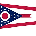 Ohio Columbus USA State Flag Bedspread T-Shirt Sticker by deanworld