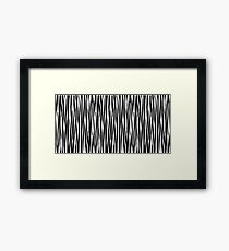 Zebra Monochrome Black and White Stripe Animal Print Framed Print