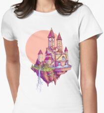 Floating Castle Womens Fitted T-Shirt