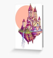Floating Castle Greeting Card