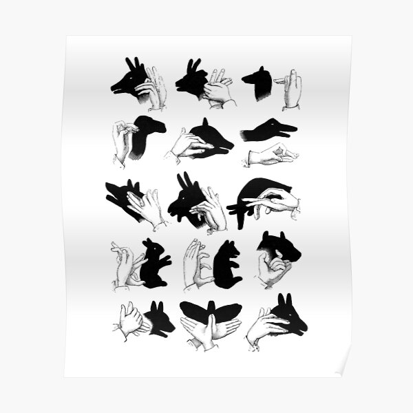Illustrated Shadow Puppets Poster