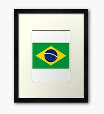 Brazil Flag - Brazilian T-Shirt Framed Print