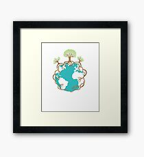 Save The Earth Protect Eco Environmental Design Framed Print