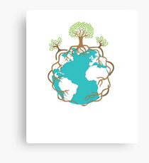 Save The Earth Protect Eco Environmental Design Canvas Print