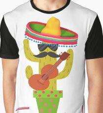 Funny Fiesta Cactus Graphic T-Shirt