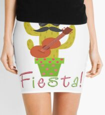 Funny Fiesta Cactus Mini Skirt