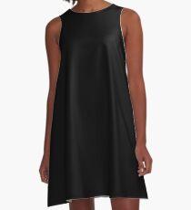 Solid Black Duvet Cover - Noir Bedspread - Plain Skirt, Cushion A-Line Dress
