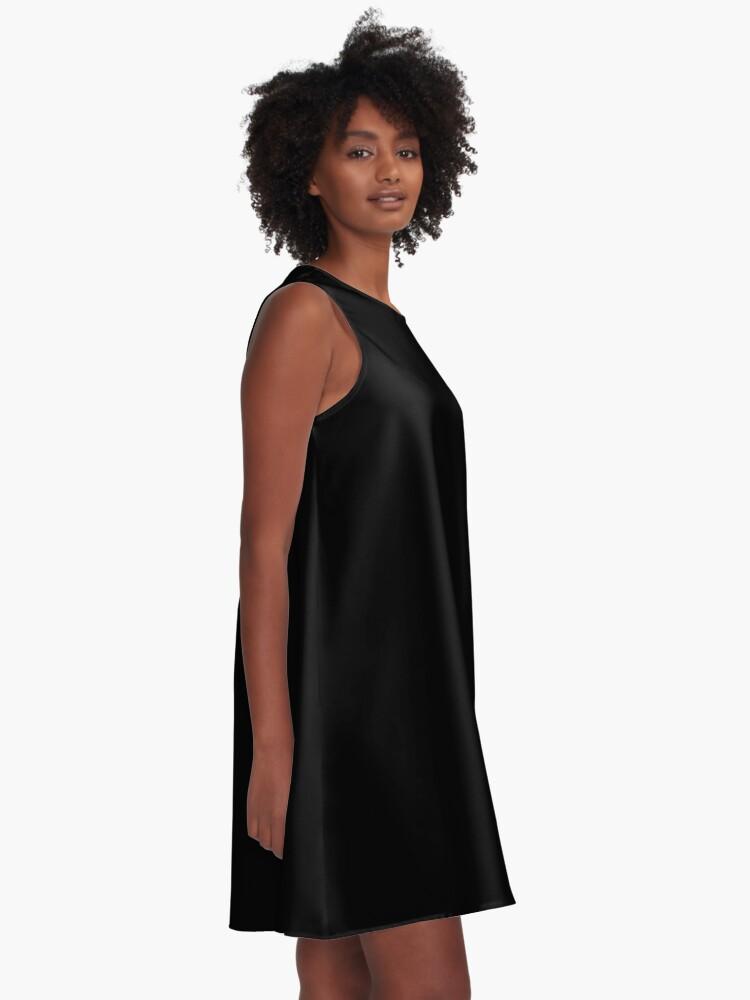 Alternate view of Solid Black Duvet Cover - Noir Bedspread - Plain Skirt, Cushion Socks A-Line Dress