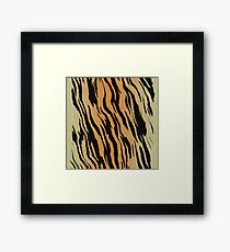 Tiger Animal Print Orange and Black Stripe Design Framed Print
