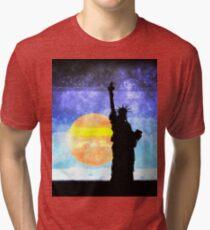 Majestic Lady Liberty Tri-blend T-Shirt