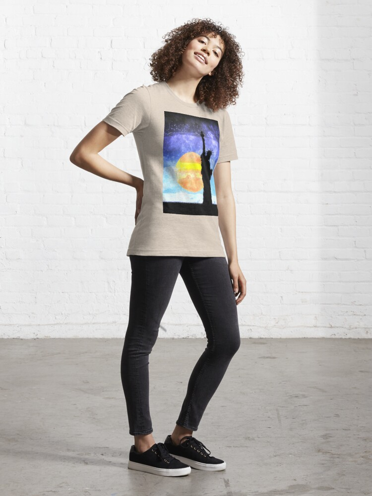 Alternate view of Majestic Lady Liberty Essential T-Shirt