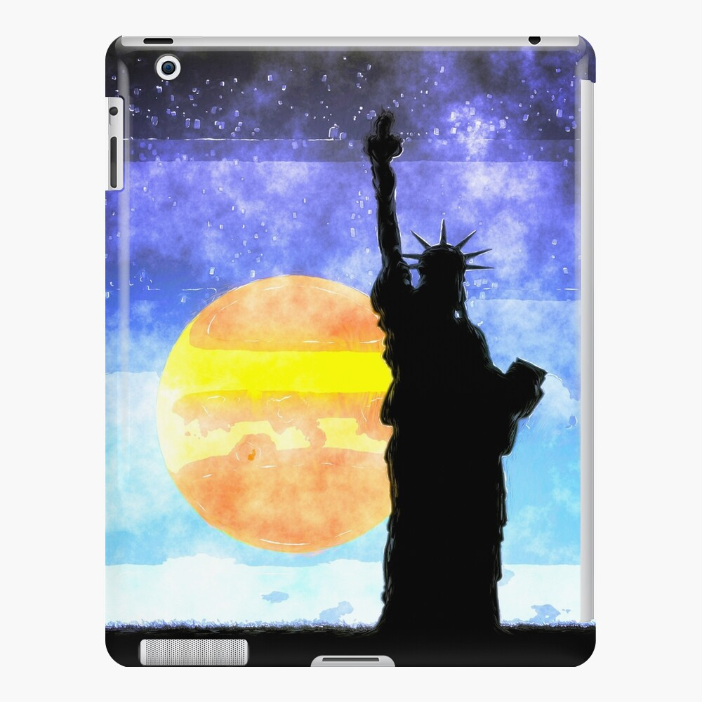 Majestic Lady Liberty iPad Case & Skin
