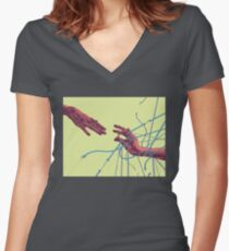 Yes! Marriage Equality by Chrissy Curtin Women's Fitted V-Neck T-Shirt