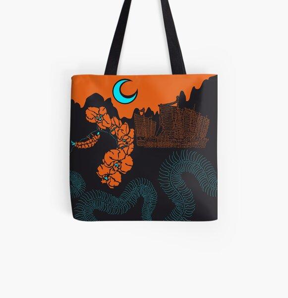 Centipede Allover-Print Tote Bag