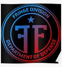 Fringe Division symbol double universe color Poster