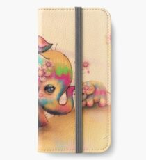 vintage tie dye elephants iPhone Wallet/Case/Skin