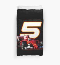 Go Sebastian Vettel #5 on your sf70h Duvet Cover
