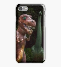 Emerging Dinosour T-Rex and Long Neck  iPhone Case/Skin